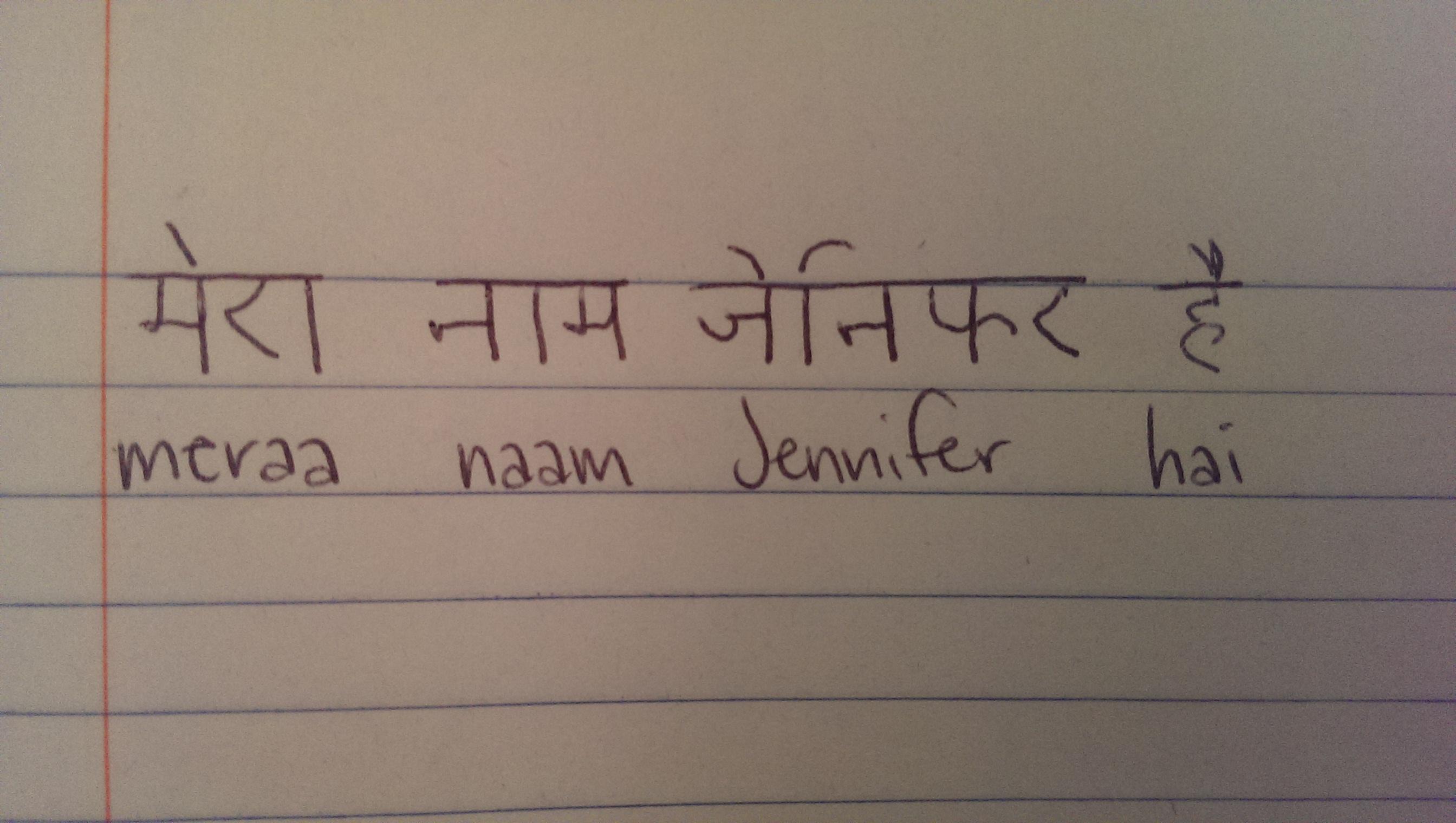 Write my name in hindi on facebook